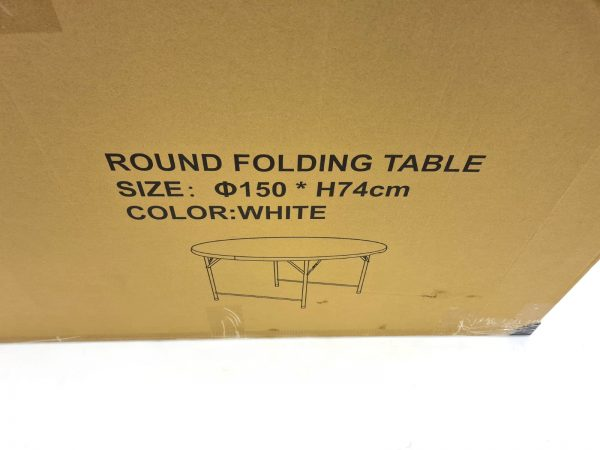 Folding Round Blowmold Table