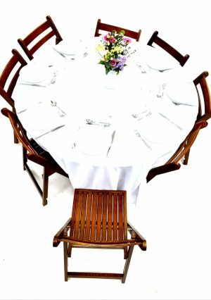 Folding Wooden Chairs & Table Dining Sets - BE Furniture Sales