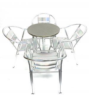 Double Tube Aluminium Furniture Sets