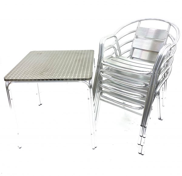 Double Tube Aluminium Bistro Set