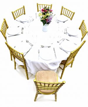 Gold Chiavari Chairs & Table Dining Sets - BE Furniture Sales