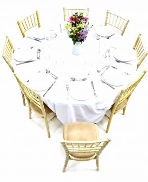 Limewash Chiavari Chairs & Table Dining Sets - BE Furniture Sales