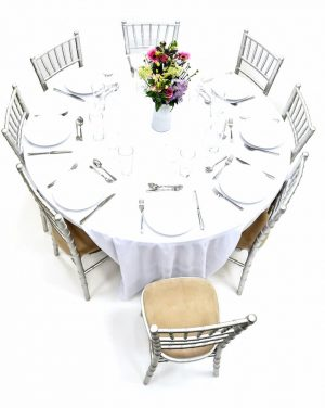 Silver Chiavari Chairs & Table Dining Sets - BE Furniture Sales