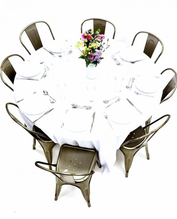 Silver Tolix Chairs & Table Dining Sets - BE Furniture Sales